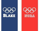 23 Custom Decals - Olympic Rings with Names
