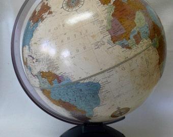 Vintage Replogle World Globe Platinum Classic Series Topographical 12 Inch Plastic Base Raised Relief