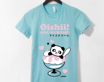 Japanese Oishii Ice Cream Panda T-Shirt