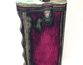 "Handmade  Wooden Kaleidoscope Color 4"" Swift Box Dugout with  One Hitter Bat + Poker"