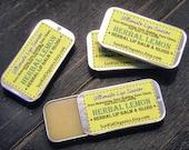 Herbal Lemon Lip Balm - High Gloss - Lemon Lavender Essential Oil Lip Treatment - Extra Shielding - Extra Moisturizing - 1/4 oz