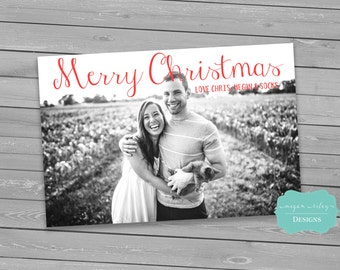 Christmas Photo Cards, DIY, Printable, Christmas holiday card, digital Christmas card, printable Holiday card