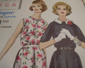Vintage 1960's Vogue 5214 Dress Sewing Pattern, Size 14, Bust 34