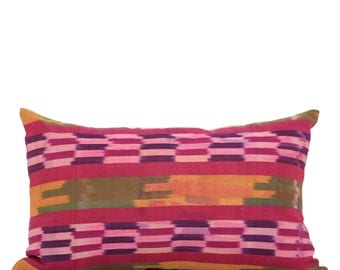 16 x 26 Pillow Cover Ikat Pillow Cover Old Ikat Pillow Cover Throw Pillow Decorative Pillow FAST SHIPMENT with ups or fedex - 09006