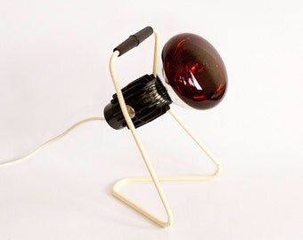 Vintage Infrared Heat Lamp, Philips Infraphil lamp, Desk Lamp, Model KL 2901.