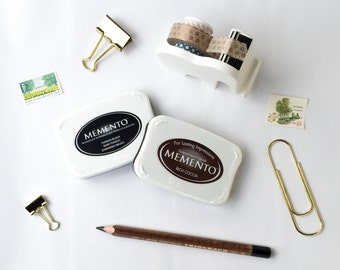 Memento Archival Dye Ink Pad - Archival Dye Stamp Pad - Black stamp pad - gray stamp pad - brown stamp pad - rubber stamp ink pad