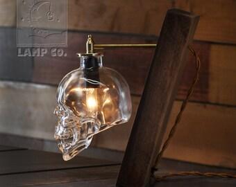 Crystalhead Vodka Glass Skull Desk Lamp