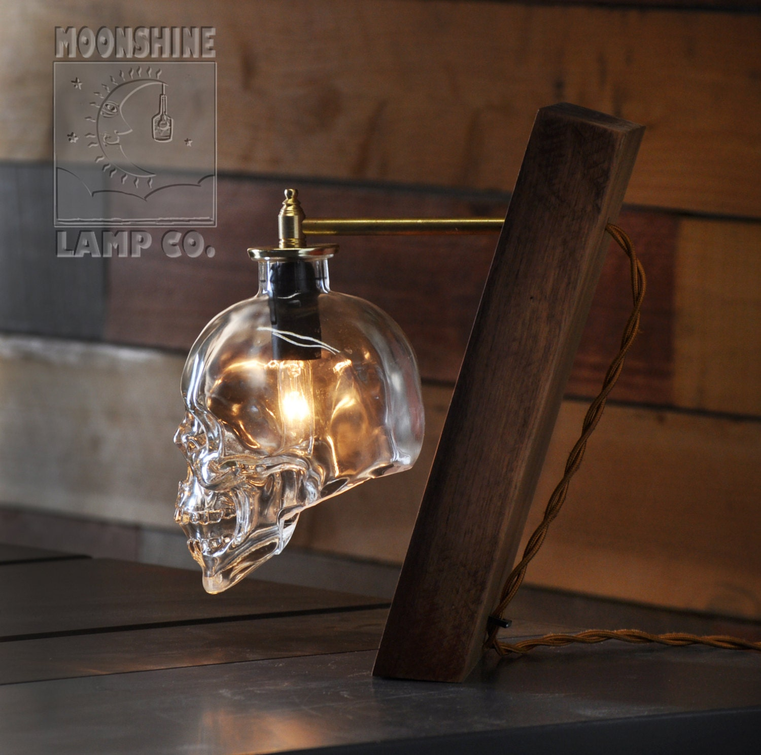 Crystalhead Vodka Glass Skull Desk Lamp