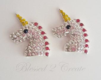2 Unicorn Rhinestone Embellishments