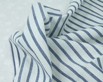 Blue Stripes Cotton Fabric - 57 Inches Wide - By the Yard 88692
