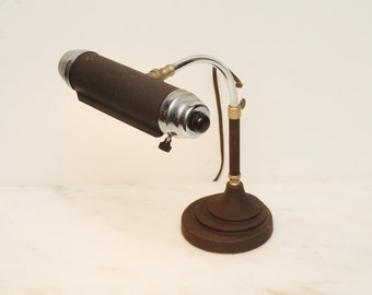 Mid Century Metal Adjustable Bankers Desk Lamp 1940s
