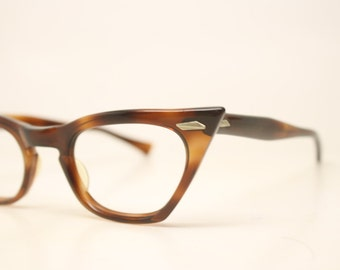 Tortoise Cat Eye glasses Unique vintage Eyewear Retro Glasses Catseye glasses vintage frames