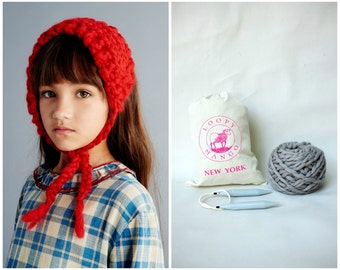 DIY Kit - Mini Bonnet - Chunky Merino Wool