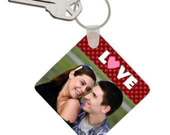 Customized Photo Love Keychain