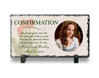 Customized Slate Photo Plaque for Confirmation