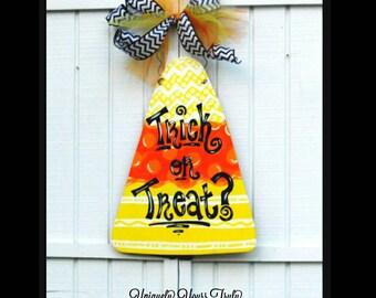Candy Corn Halloween Wood Door Hanger!