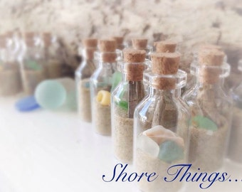 20 Pcs Wedding Favors Beach In A Bottle Gifts