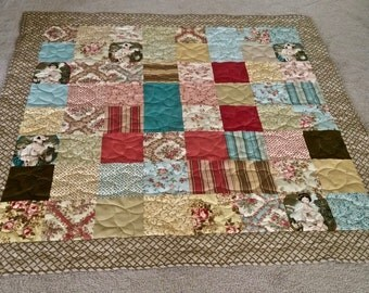 "Patchwork Quilt Lap or Sofa Size 58"" x 60"