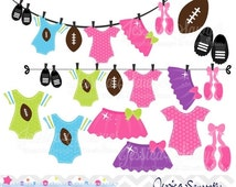 80% OFF - INSTANT DOWNLOAD, touchdowns or tutus clipart, gender reveal clip art, for commercial use, personal use