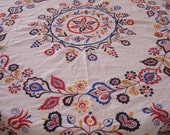 Embroidered Table Cover. Hand Made. Wool work. Scandinavian. 1930's