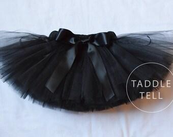 BLACK Ribbon Tutu - Sizes Newborn to 5t