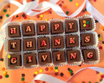 Thanksgiving Chocolates - Holiday Hostess Gift