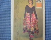 vintage 1970s simplicity sewing pattern 5082 super jiffy wrap and tie pantskirt one size