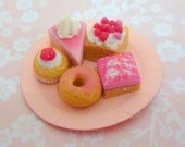 1:12 scale...Pink Cakes...handmade by Small Portions