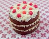 1:12 scale Triple Layer Raspberry Chocolate Cake....handmade.....miniature