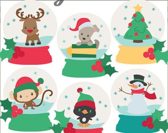 Snow globes clipart – Etsy