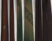 Vintage Skinny Neckties Retro lot of 3