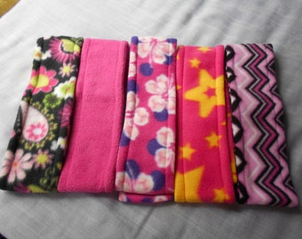FLEECE HEADBANDS - Hot Pink/Fuchsia Variety.   Mix and match with your outerwear.