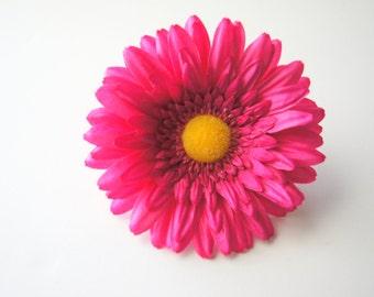 Pink Silk Flower Dog Collar Attachment