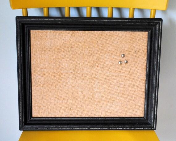 Distressed Black Framed Cork Board Message Board Bulletin