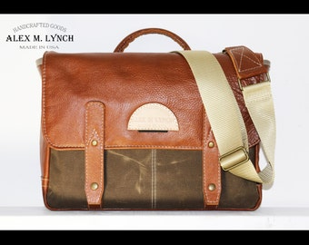 handcrafted Modern leather messenger bag - 010033