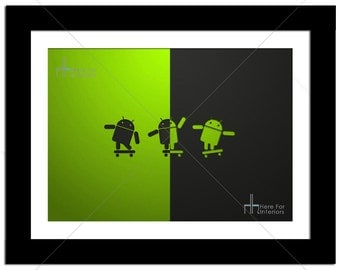 Android Multiple Split Robot Technology Geek Photographic Print - Various Sizes - Gift Idea
