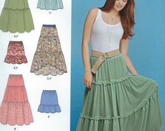 UNCUT Modern Simplicity S0401 Skirt Pattern