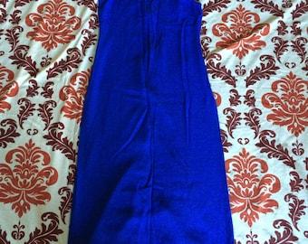 Vintage Long Blue Summer Dress