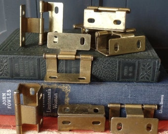 Vintage Hardware, Brass, Wrap around, Hinges, Door, Cabinet, Furniture, Home Improvement