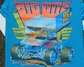 Vintage 1996 Eldora Speedway The Big One Cotton T-Shirt M Hanes 100% Cotton