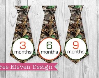 Camo Necktie PRINTABLE Monthly Stickers