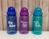 ON SALE - Personalized  Little Bride's Water Bottle - Ring Bearer's Water Bottle - Flower Girl's  Water Bottle - Children's water bottles.