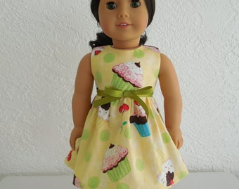18 inch Doll Dress Cupcake Party Dress fits American Girl Dolls