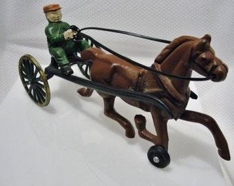 Cast Iron Horse and Jockey