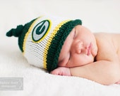 Green Bay Packers Baby Hat, Newborn Photo Prop, Green Bay Knit Hat, Baby Boy Hat, Baby Girl Hat, Newborn Green Bay Packer Knit Hat, Baby Hat