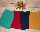 Girls Pencil Skirt Textured Knit Collection ~ Modest Girls Skirt, Toddler Girls, Big Girls, Tween Girls, Teen Girls ~ Made to order