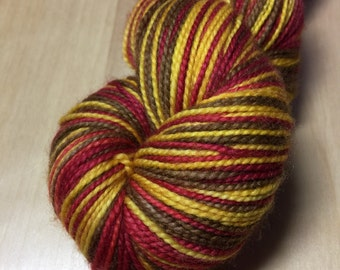 Gobble Gobble Self Striping on Duet Sock