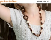 SALE 25% off Teething necklace Nursing necklace necklace for mom juniper necklace wooden necklace beige Nursing necklace mocha and cream nec