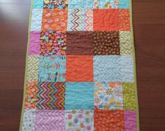 Spring /Summer /Table runner/Birds and butterflies /flowers/quilted