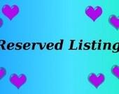 Custom Listing for Kimberly